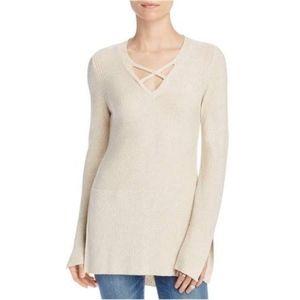 Free People Crisscross Tunic Sweater NWOT